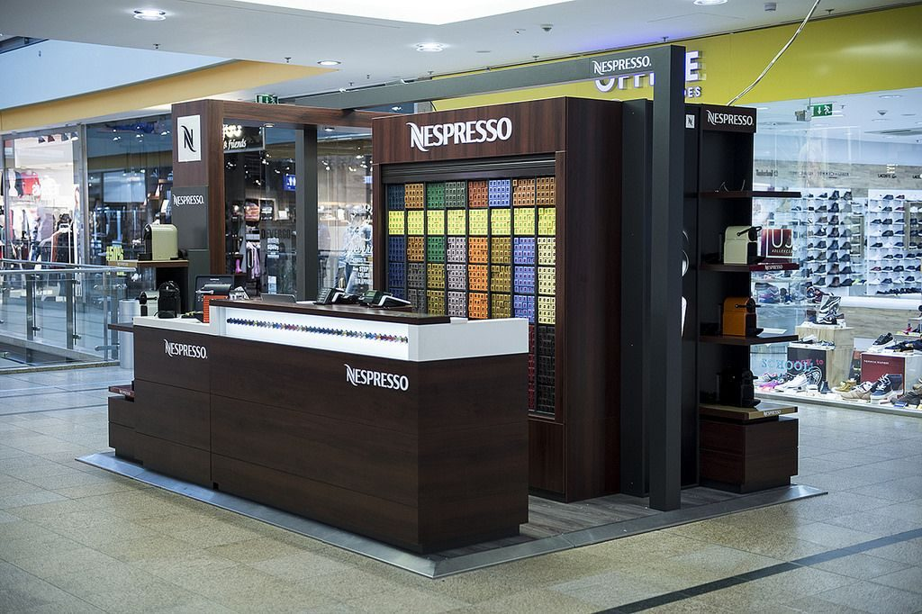 Nespresso mini boutique Árkád