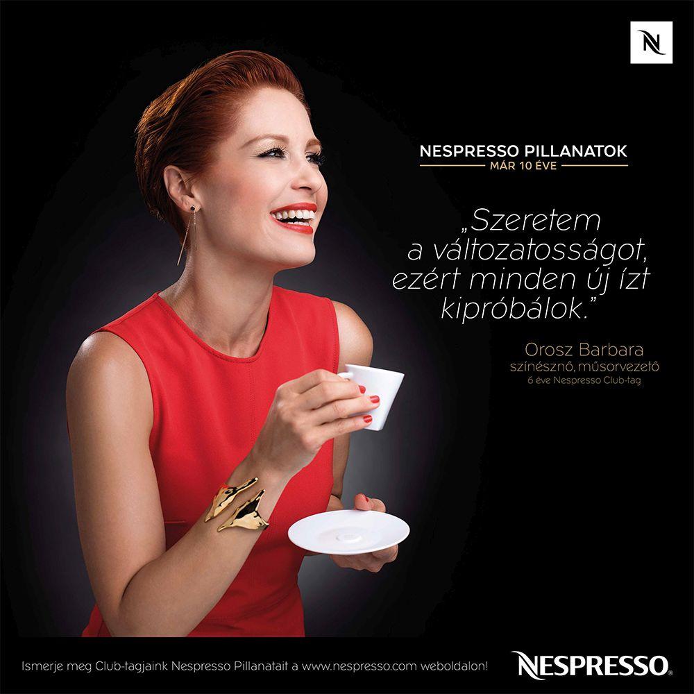 10 éves a Nespresso Magyarországon - Orosz Barbara
