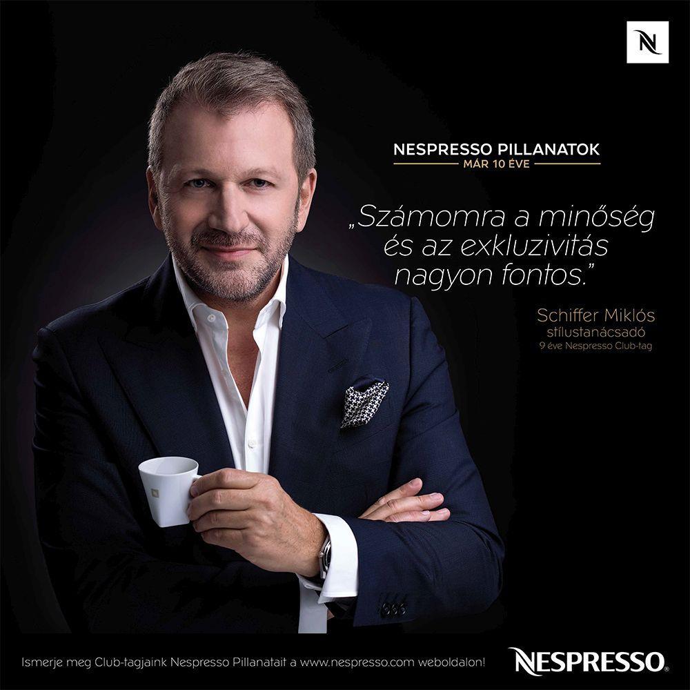 10 éves a Nespresso Magyarországon - Schiffer Miklós