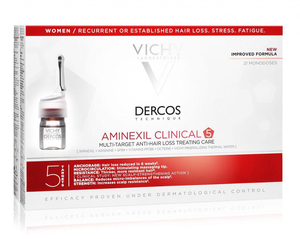 Vichy Dercos Aminexil Clinical 5 ampulla kúra hajhullás ellen