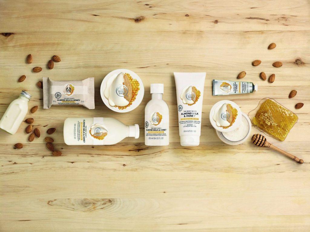 The Body Shop Mandulatej és méz testápoló termékcsalád érzékeny bőrre