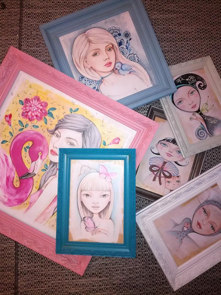 Majoros Cili festményei, rúzs és más