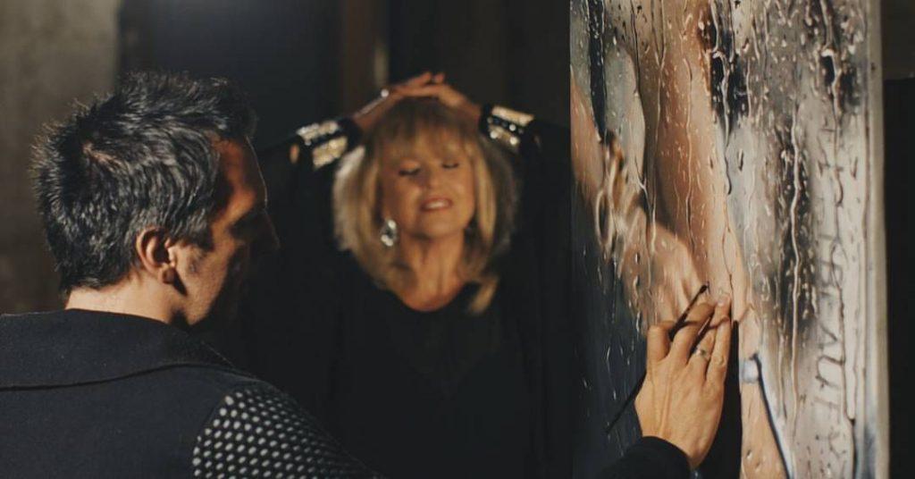 Garay Nagy Norbert festőművész kiállítása, hírességek, rúzs és más