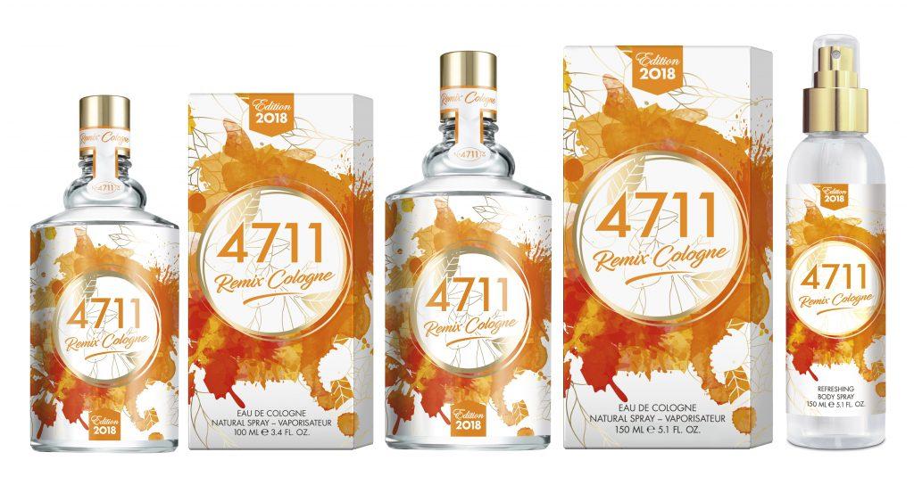 4711 Remix edition cologne 2018, narancs, rúzs és más