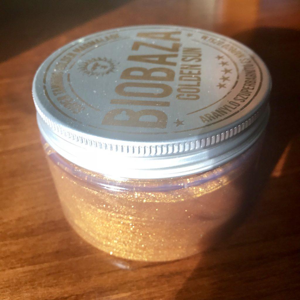 Biobaza aranyló szupernapozó dzsem, rúzs és más