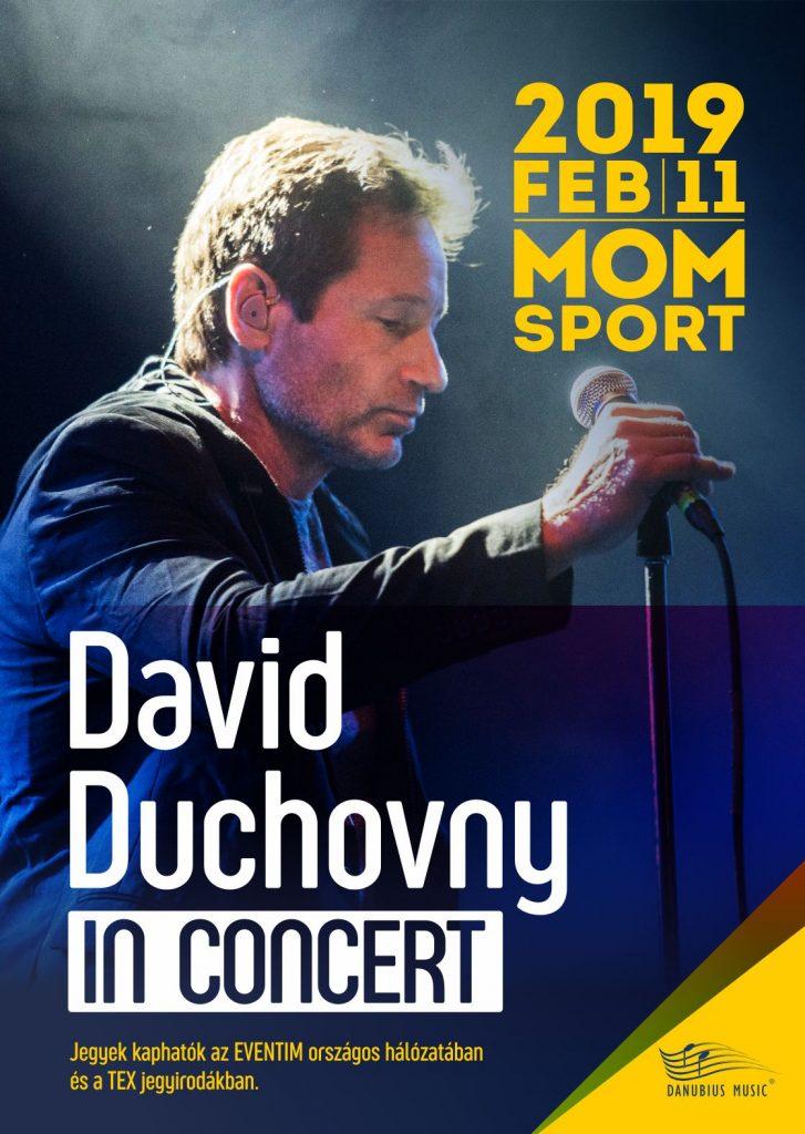David Duchovny koncert MOM Sport, rúzs és más