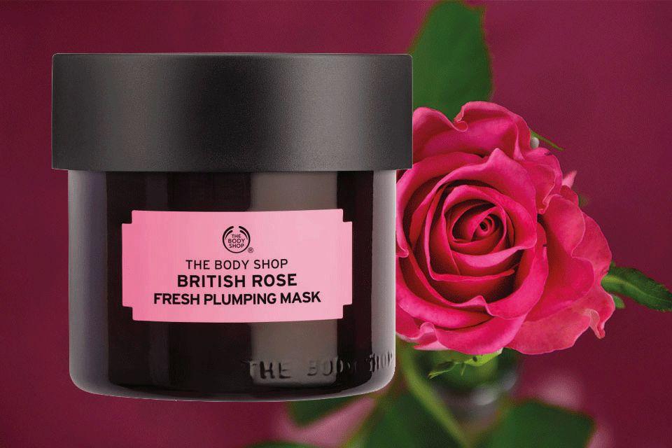 The Body Shop rózsász mélyhidratáló arcmaszk