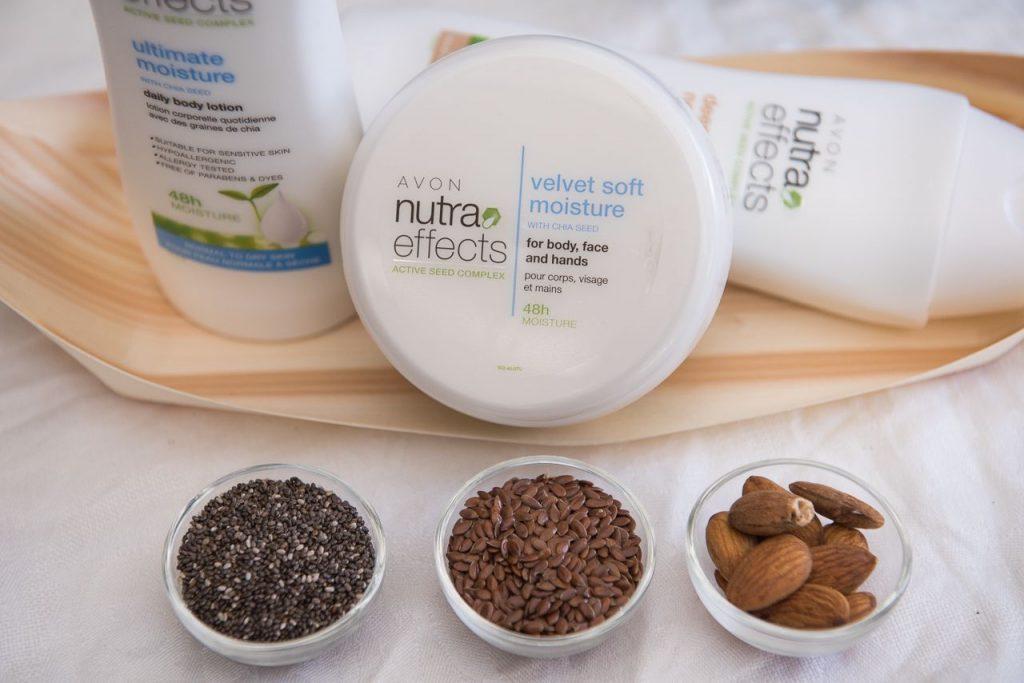 Avon Nutra Effects testápoló család, összetevők