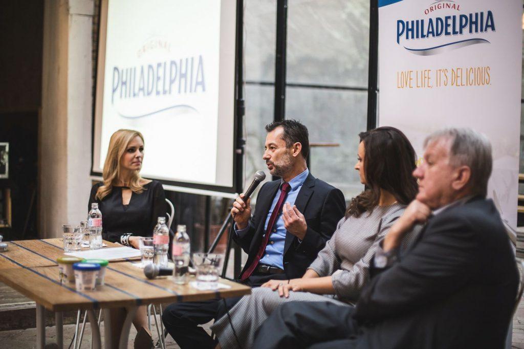 Philadelphia krémsajt sajtótájékoztató kerekasztal