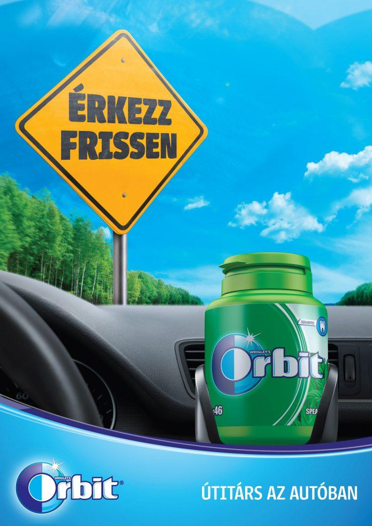 Orbit cukormentes rágógumi a biztonságos autóvezetés szolgálatában