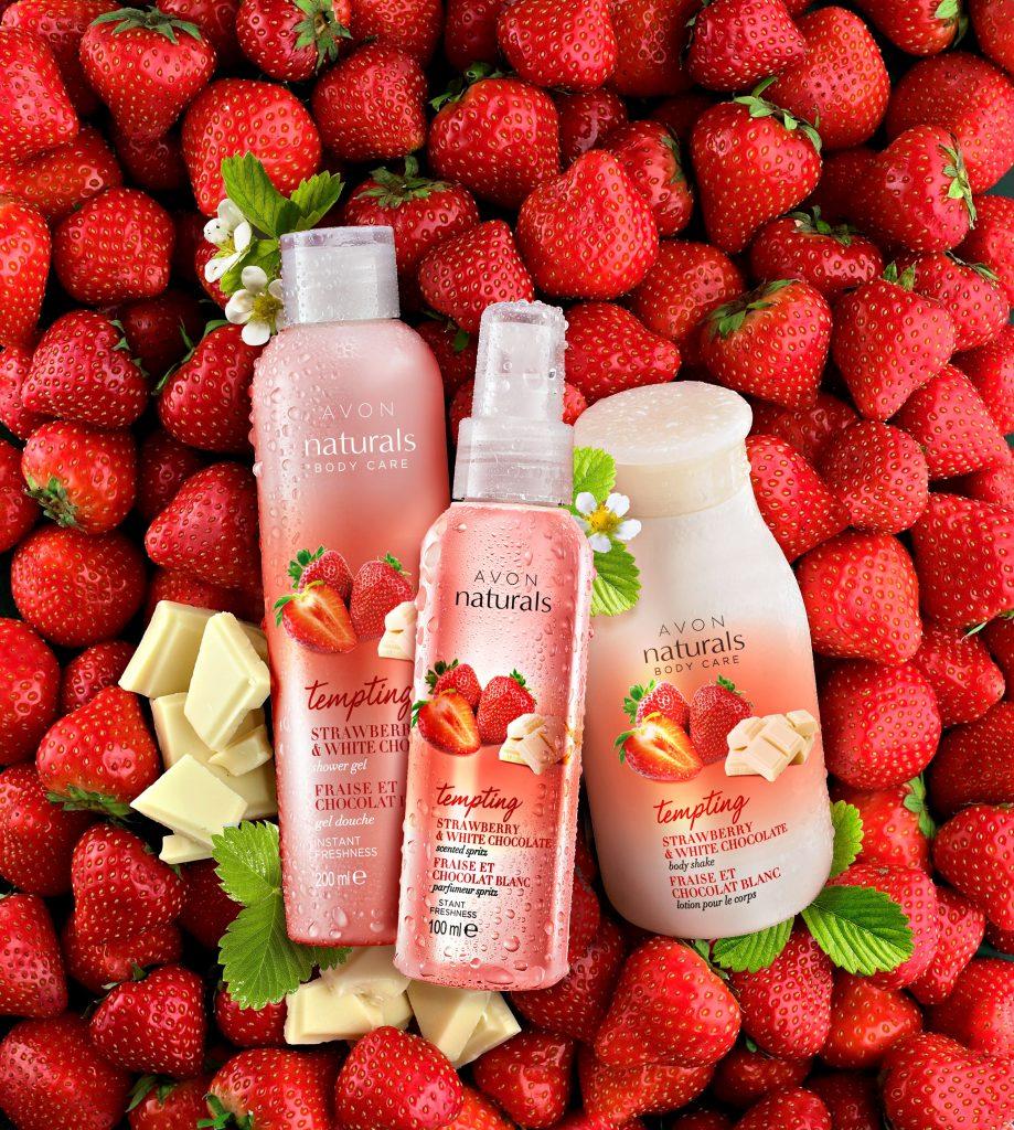 Avon Naturals Eper és Fehércsoki testápoló termékcsalád