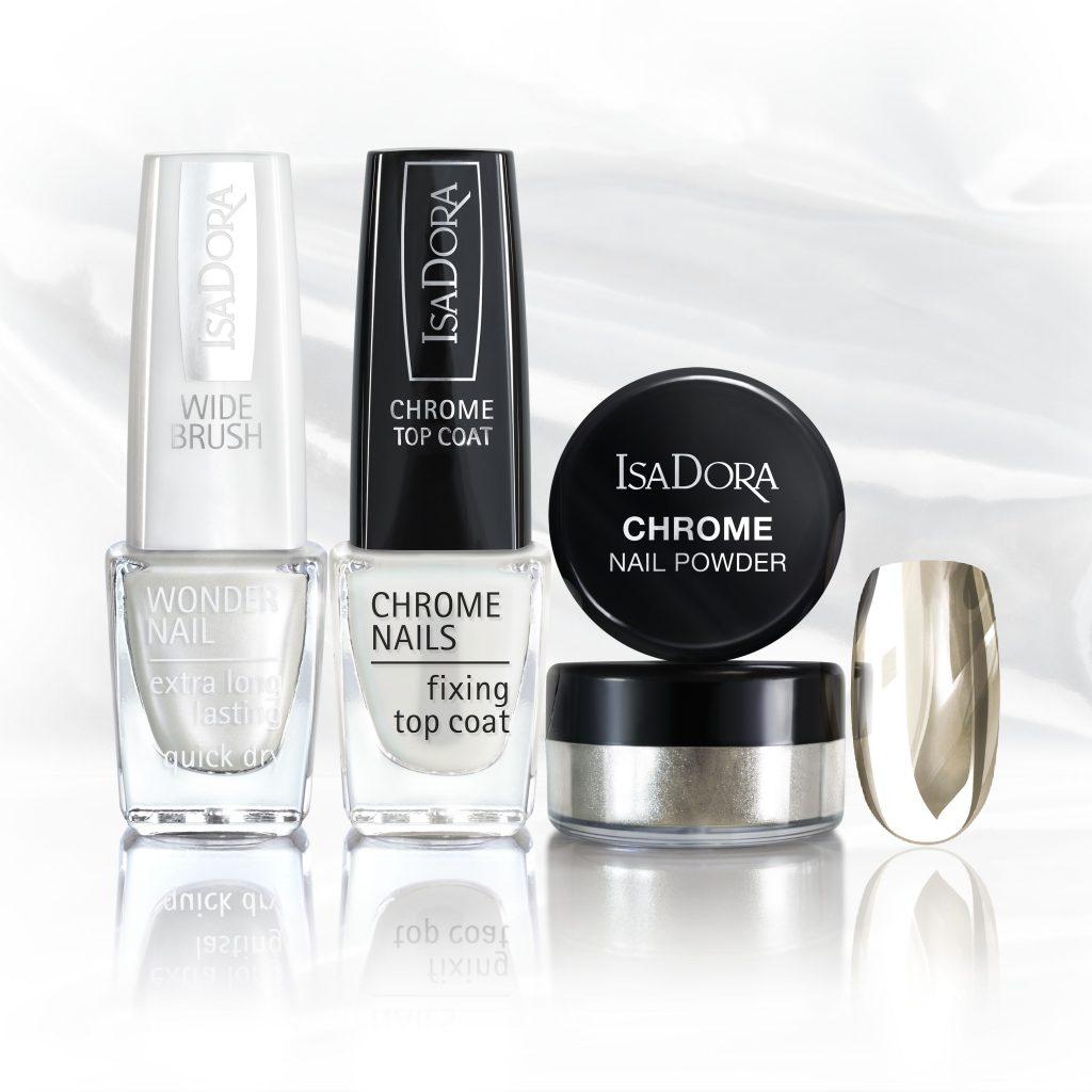 Isadora Chrome Nail krómhatású manikűr