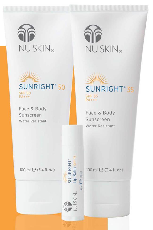 Nu Skin Sunright napvédő termékcsalád