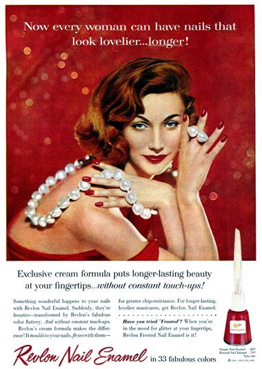 körömlakk, 1957 Revlon, rúzs és más