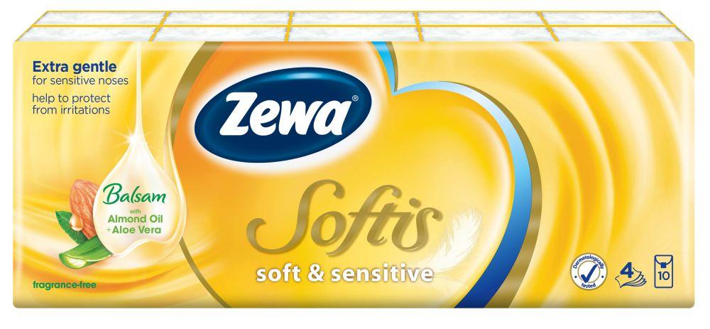 Zewa Softis, Ápoló balzsammal átitatott papízsebkendő, aloe vera, rúzs és más