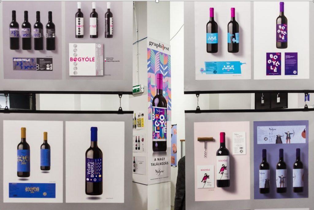 Vylyan Bogyólé borcímke pályázat, rúzs és más, kiállítás