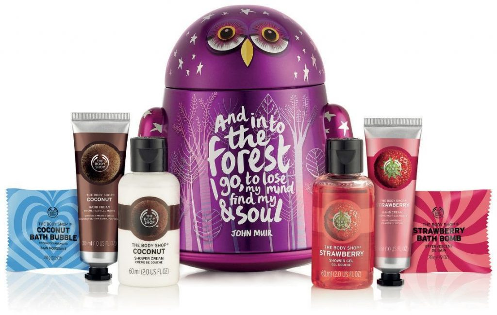 The Body Shop, bűvös erdő, Olivia, Freddy, adventi kalendárium, karácsony, rúzs és más