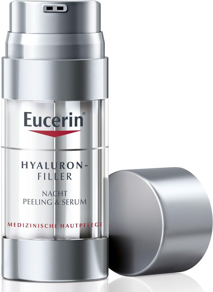 Eucerin Hyaluron Filler, night peeling & serum, kettős hatású szérum, rúzs és más