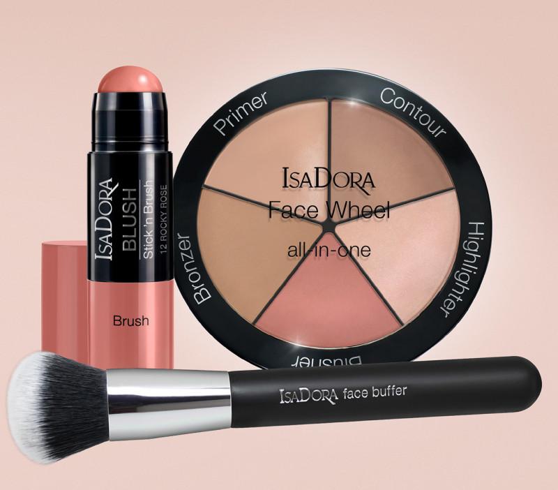 Isadora, Face Wheel, smink, paletta, rúzs és más
