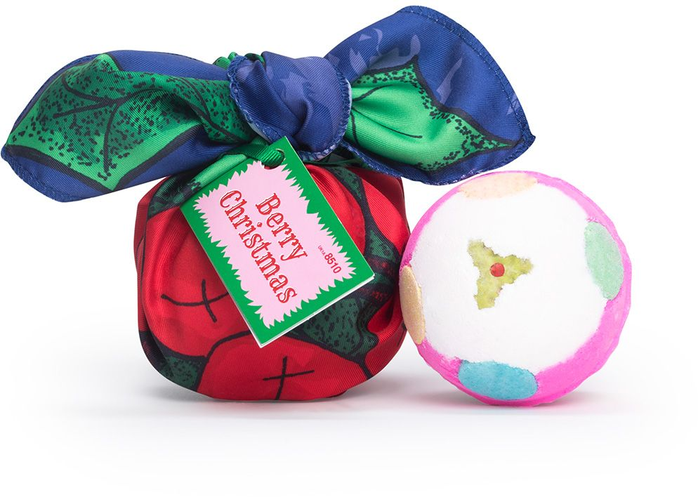 Lush környezetvédő csomagolás, karácsonyi csomag, ajándék, rúzs és más