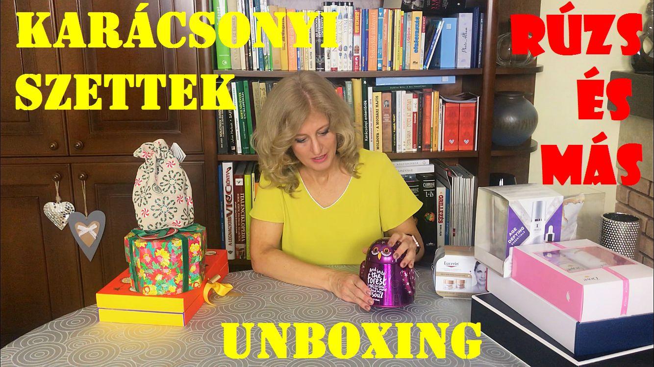Unboxing, karácsonyi szettek, ajándékcsomag, tipp, rúzs és más