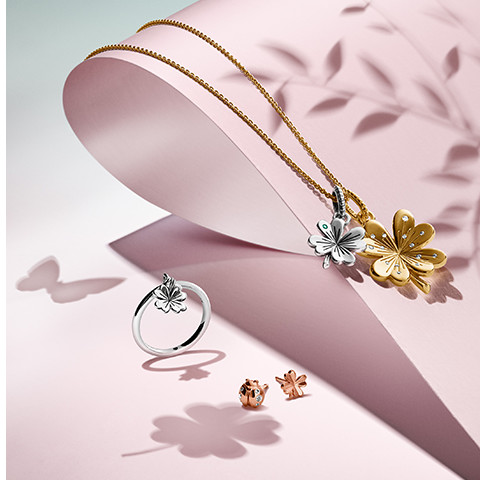 pandora, garden, spring, tavaszi, kollekció, ékszer, ezüst, rúzs és más, katica, pillangó