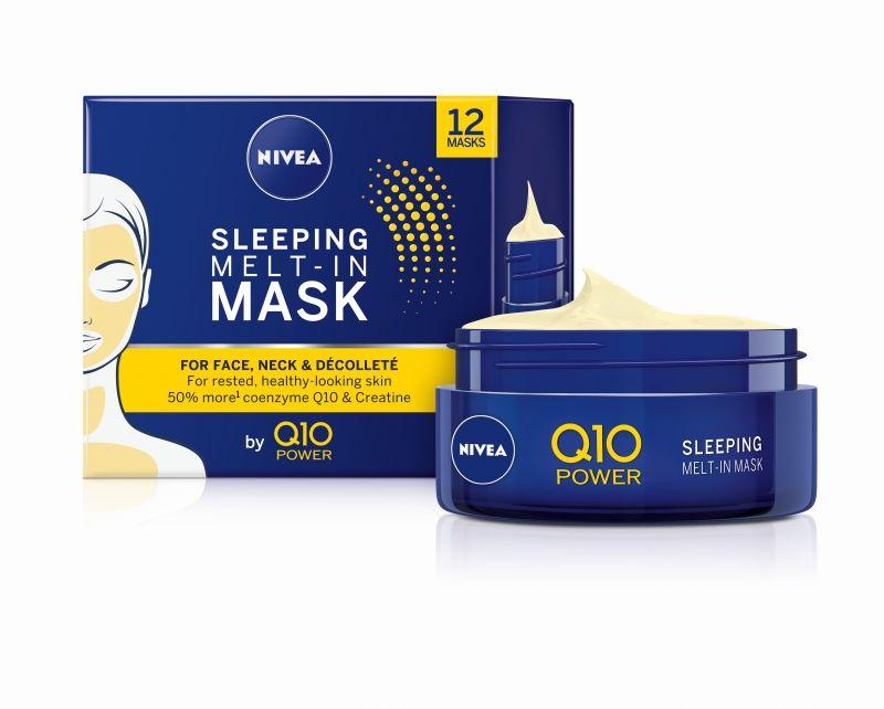 nivea, Q10, sleeping mask, cellular filler, hyaluron filler, éjszakai arcmaszk, rúzs és más, arcápolás