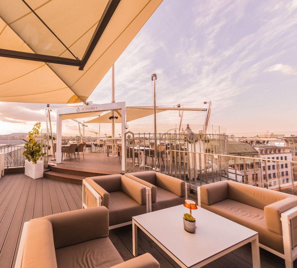 St. Andrea Wine&Skybar, terasznyitó, champagne, program, tetőterasz, kóstoló, rúzs és más
