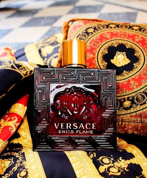 Versace, eros flame, férfi, illat, parfüm, edp, tüzes, rúzs és más