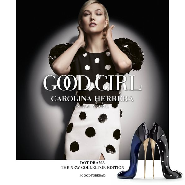 Good Girl Dot Drama, Karlie Kloss, Carolina Herrera, gyűjtői kiadás, collector, rúzs és más, parfüm, illat