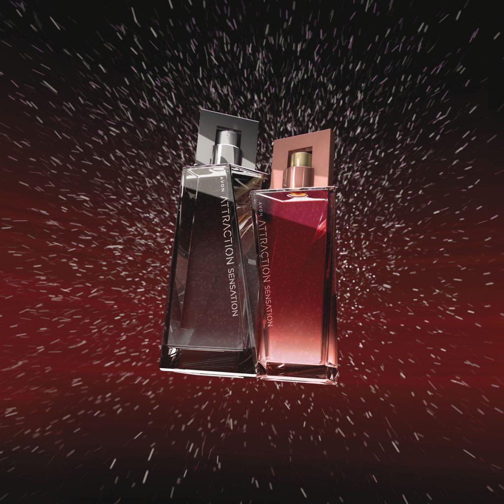 Avon, attraction, sensation, érzéki, illatpár, csábítás, illat, rúzs és más