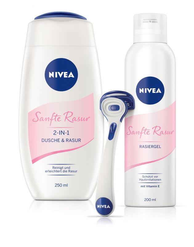 nivea, borotválkozás, női borotva, sanfte rasur, szőrtelenítés, rúzs és más