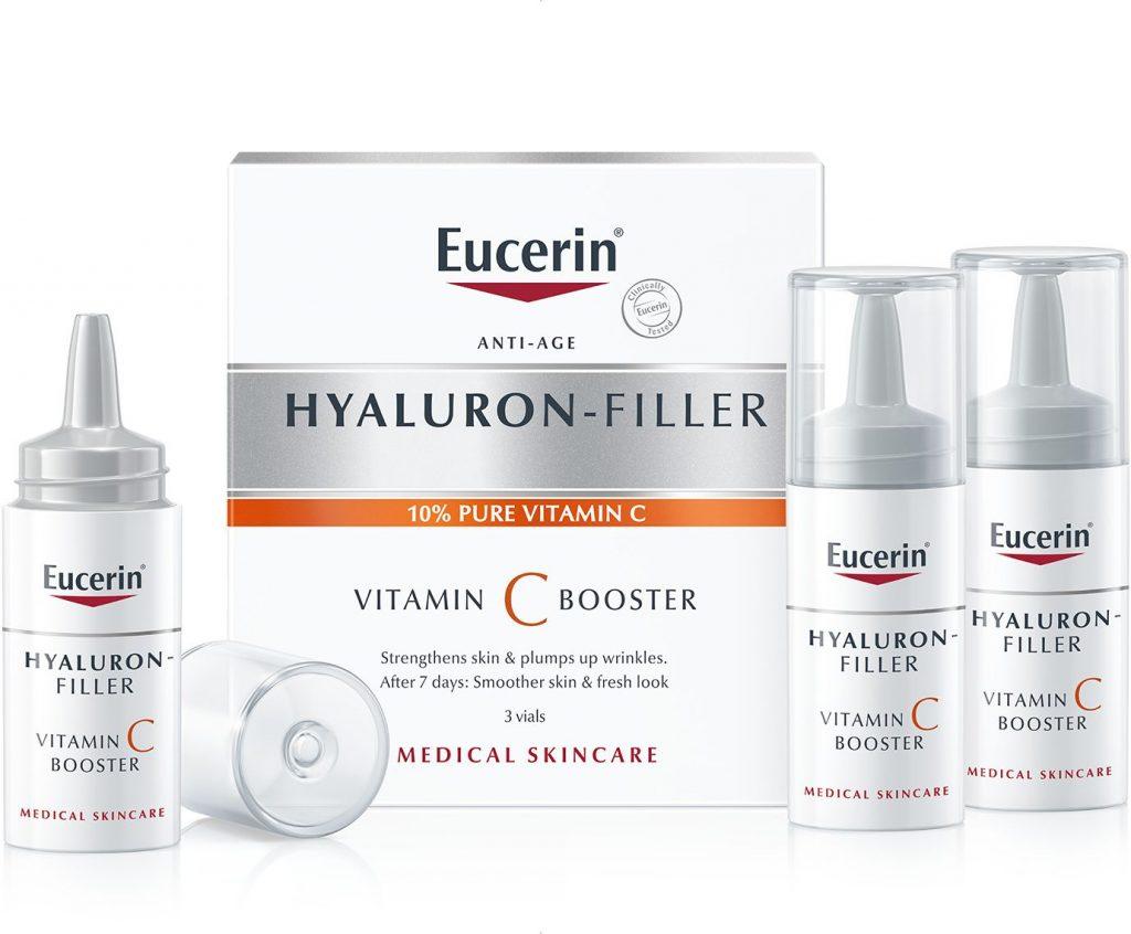 Eucerin, C-vitamin, booster, koncentrátum, vitaminos, ránctalanító,, rúzs és más, antiaging
