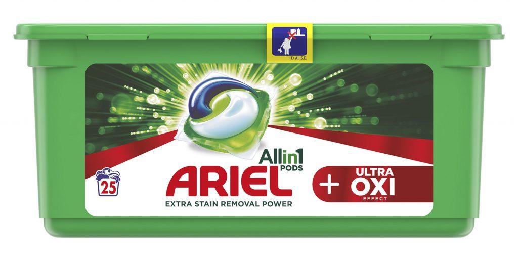 Ariel, Allin1, pods, mosókapszula, folttisztító, színkímélő, mosás, hatékony, oxi, ultra, rúzs és más