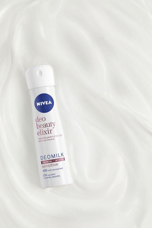 NIVEA, beauty elixir, beautyfiyng deo, dezodor, alkoholmentes, bőrápoló, bőrszépítő, dezodor, rúzs és más, deomilk