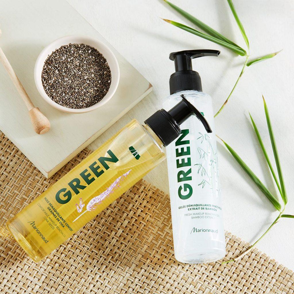 marionnaud, green, zöld, környezettudatos, természetes, növényi összetevők, arcápolás, testápolás, megfizethető, rúzs és más, francia