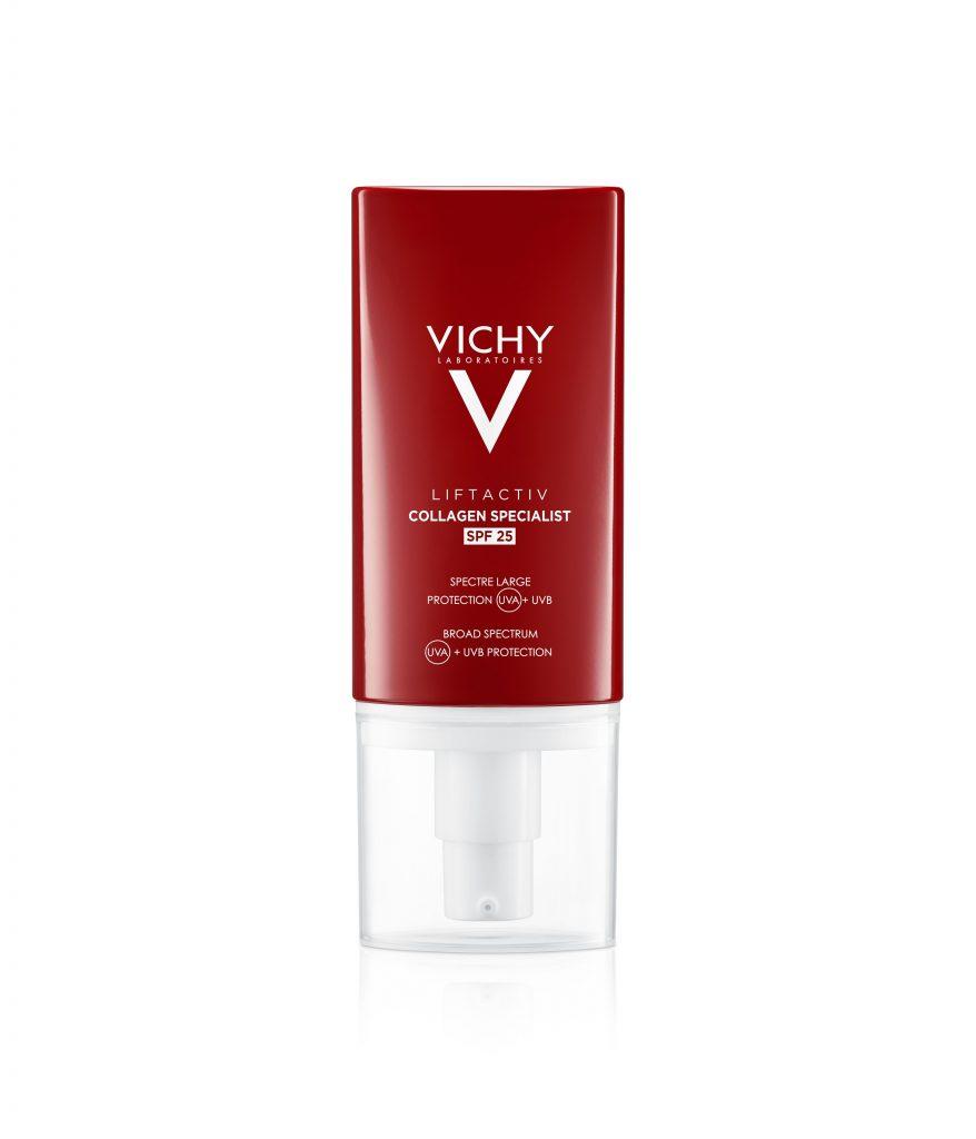 vichy, liftactiv, collagen, fényszűrő, kollagén, UV védelem, napsugárzás, bőröregedés, bőrfiatalító, rúzs és más, arcbápolás, bőrápoló