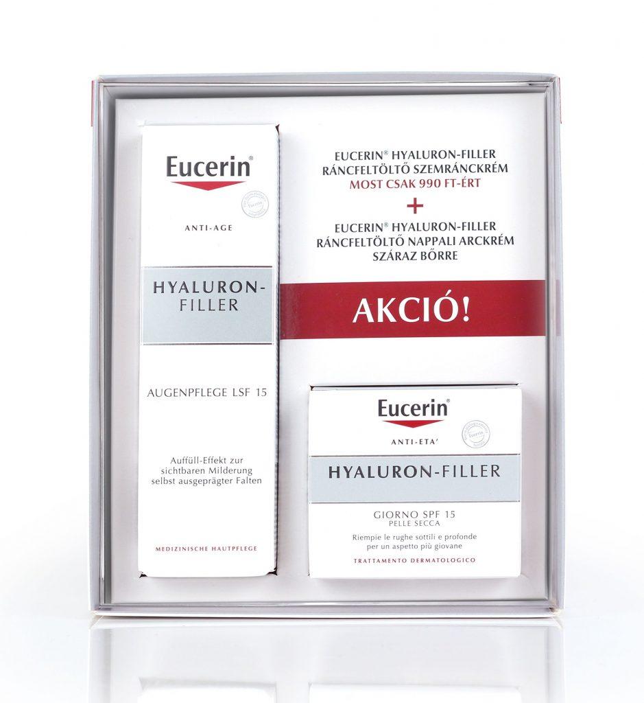 eucerin, szett, csomag, akciós, akciós csomag, arcápolás, hyaluron-filler, vitamin C booster, tavaszi, anti-aging, rúzs és más