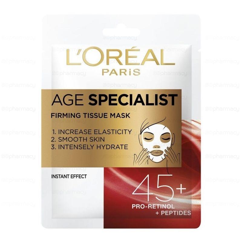 l'oreal, paris, loreal, mask, maszk, age specialist, 45+, lapmaszk, arcmaszk, bőrfiatalítő, rúzs és más, home spa, fátyolmaszk