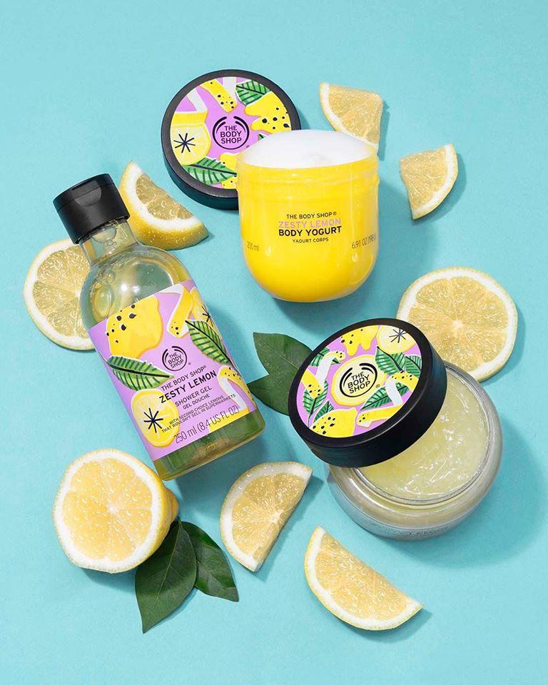 the body shop, zesty lemon, fürdő smoothie, bath, mango, bath smoothie, rúzs és más, testápolás, tusfürdő, testradír, fürdőhab