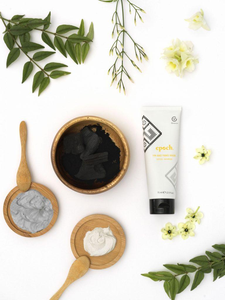 nu skin, epoch, yin and yang mask, maszk, detox, méregtelenít, aktív szén, egyensúly, kiegyensúlyozó, tápláló, arcmaszk, rúzs és más