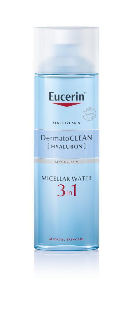 eucerin, dermato-clean, hidratáló, arctisztítás, micellás víz, tisztítótej, hyaluron, 3in1, arclemosó, rúzs és más, sminklemosó