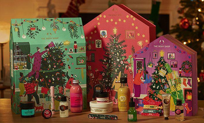 the body shop, tökéletlen karácsony, adventi naptár, advent calendar, rúzs és más, winter jasmine, warm vanilla, ajándék csomag, szett, fair trade