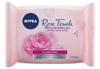 nivea, rose touch, rózsavíz, organikus rózsavíz, rózsás, arcápolás, gél krém, arckrém, arctisztító, micellás, törlőkendő, rúzs és más