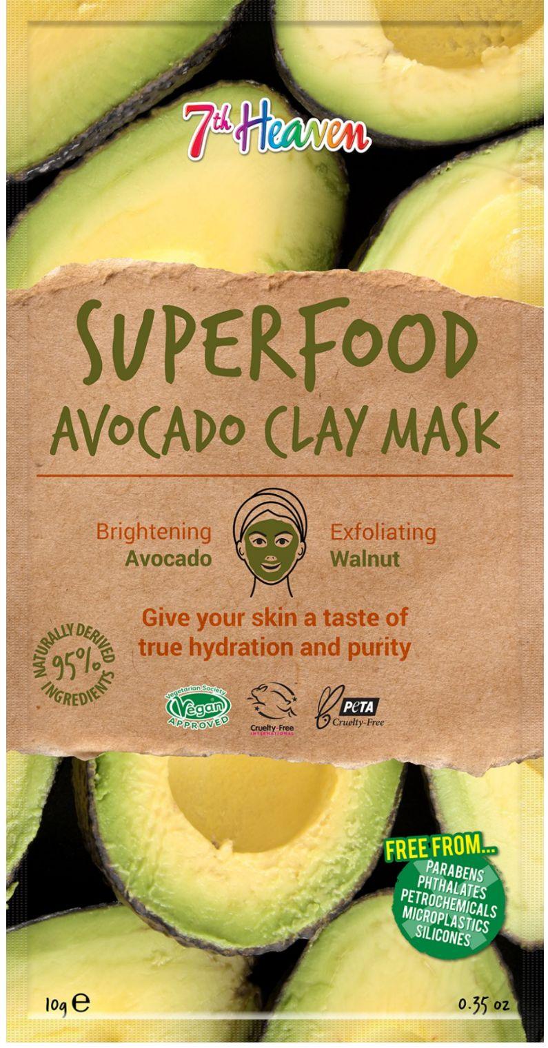 superfood mask, maszk, 7th heaven, áfonya, kannabisz, matcha, avokádó, chia, vegán, agyagpakolás, lehúzható, pakolás, mask, rúzs és más,