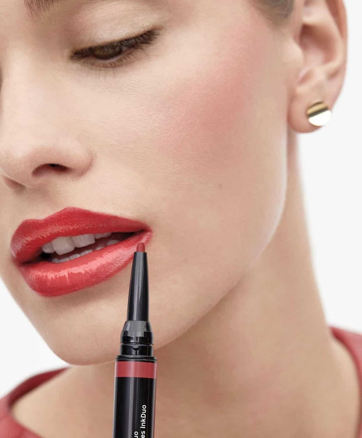 shiseido, j-beauty, japán, ajaksmink, szájfény, gel gloss, Lip Liner Ink duo, alap, szájceruza, smink, rúzs és más, innovatív