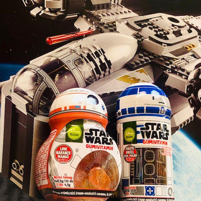 star wars, gumivitamin, vitamin, persely, újrafelhasználható, környezettudatos, gyerekvitamin, vitamin, multivitamin, a csillagok háborúja, R2-D2, BB-8, robot, rúzs és más, űrvitamin, best-pharma