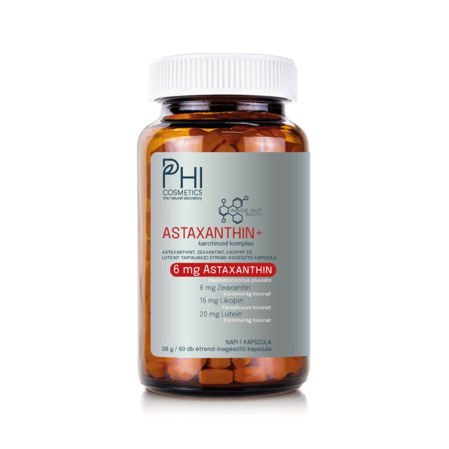 phi, astaxanthin, booster, szérum, antioxidáns, karotinoid, szem, bőr, agy, étrendkiegészítő, asta urban care, rúzs és más, bőrápolás, védelem