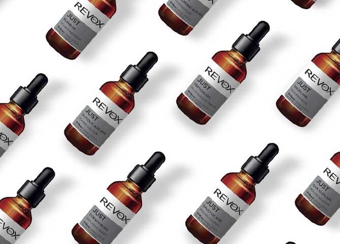 just, revox, hatóanyag, szérum, hyaluronsav, szalicilsav, coenzym q10, niacinamid, kozmetikum, hatékony, minimalista, személyre szabható, rúzs és más, bőrápolás, arcápolás