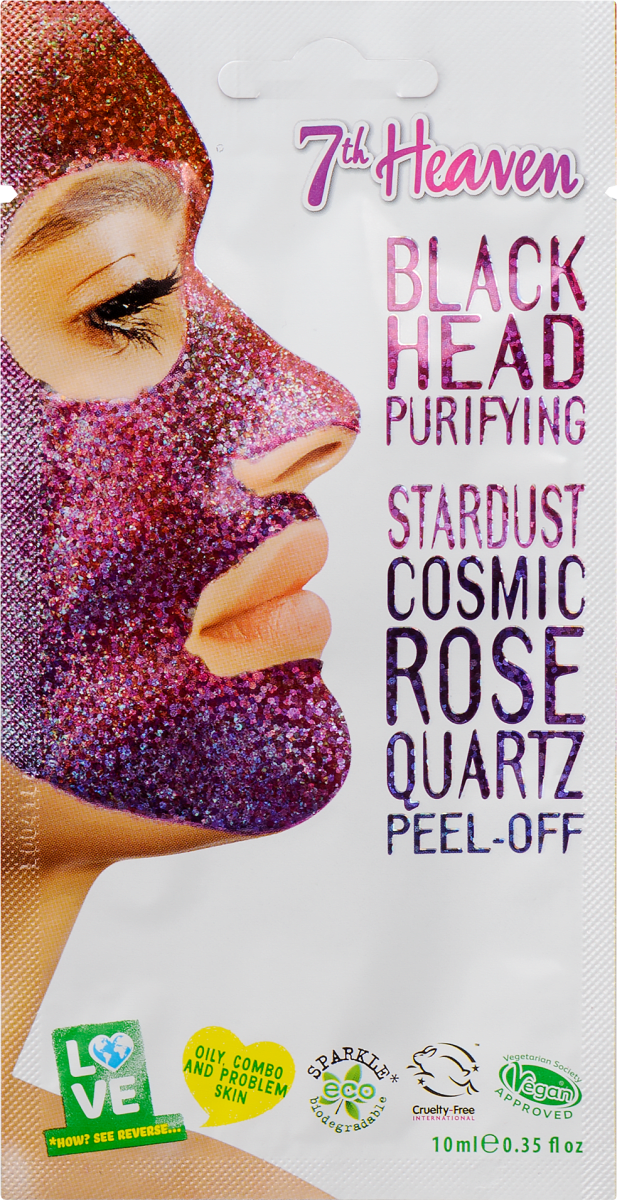 7th heaven, stardust, peel off mask, maszk, lehúzható, csillogó, vegán, természetes hatóanyag, rúzs és más, dm